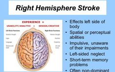 Right Hemisphere Stroke: Symptoms and Treatments – Dr. Right Hemisphere Stroke, Short Term Memory, Memory Problems, Heart Attack, Intuition, Memories, Thoughts, Math, Memoirs