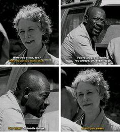 """The Walking Dead Season 6 Episode 1 """"First Time Again"""" Morgan Jones and Carol Walking Dead Season 6, Walking Dead Tv Show, Walking Dead Funny, Walking Dead Zombies, Walking Away, Walking Dead Images, Carol Twd, Morgan Jones, Dead Inside"""