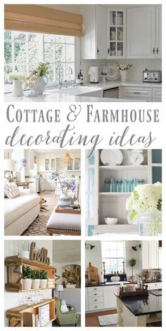Cottage and Farmhouse Style Decorating Ideas #foxhollowfridayfavs http://foxhollowcottage.com June Features