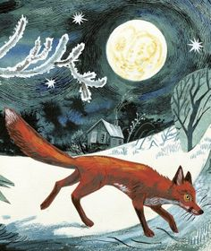 Illustration by Mark Hearld for the book 'A First Book of Nature' by Nicola Davies Art And Illustration, Fuchs Illustration, Graphic Design Illustration, Illustrations Posters, Art Fox, Fox And Rabbit, Glasgow School Of Art, Inspiration Art, Wildlife Art