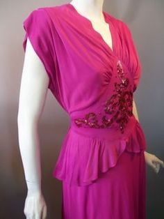 1940s formal dress - Google Search