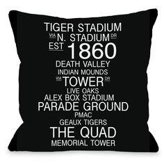 Baton Rouge Louisiana Landmarks Throw Pillow