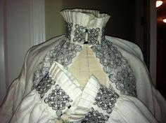 Elizabethan Costume: Kentshire Irish linen smock with blackwork. #Renaissance