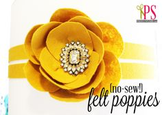 Felt Poppy Tutorial No-Sew! (Easy Felt Flowers)