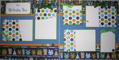 boy birthday scrapbook pages | the BIRTHDAY BOY 12x12 Premade Scrapbook Pages by JourneysOfJoy