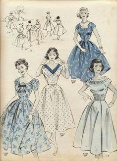 1954 Dresses ~ Burda