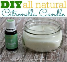 DIY Citronella Candles-how cool and all natural! #candlemaking