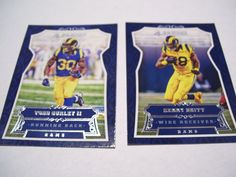 2016 Panini Football Cards of Kenny Britt and Todd Gurley II. St. Louis Rams. #StLouisRams