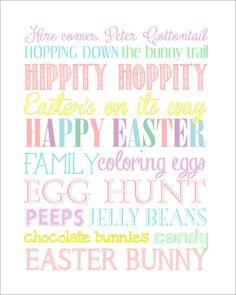 Easter subway art free printable