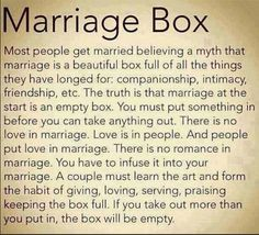 The truth about what makes for a happy marriage...