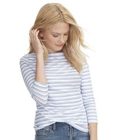 #LLBean: Signature Cotton/Modal Boatneck Top, Stripe