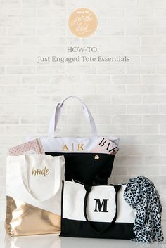 DIY Wedding Wednesday: Just Engaged Tote Essentials - The Details Engagement Parties, Just Engaged, Marriage Proposals, Bridal Show, Diy Wedding, Bliss, Stage, December, Essentials