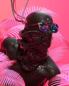 _Everydays on Behance Cyberpunk Aesthetic, Arte Cyberpunk, Cyberpunk Fashion, Arte Digital Fantasy, Fantasy Art, Arte Alien, Vaporwave Art, Futuristic Art, Glitch Art