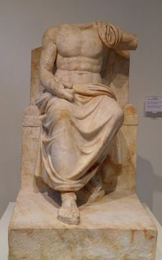 Statue of Zeus Hypsistos - from the sanctuary of Zeus Hypsistos, Imperial Roman period - at the Archaeological Museum, Dion