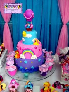 My little Pony birthday cake! I actually have Princess Twilight's balloon that could go on top already.