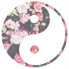 Ying yang symbol and flowers put them together. Tumblr Backgrounds, Cute Backgrounds, Wallpaper Backgrounds, Phone Backgrounds, Iphone Wallpapers, Yin Yang, Jing Y Jang, Png Tumblr, Overlays