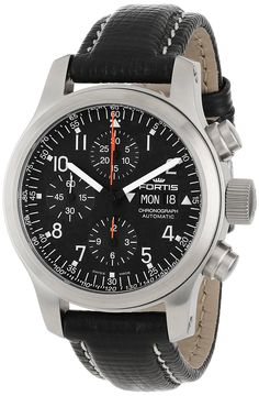 Fortis Men's 635.10.11 L.01 B-42 Pilot Professional Swiss Automatic Chronograph Tachymeter Day Date Watch *** Read more  at the image link. (This is an Amazon Affiliate link and I receive a commission for the sales)