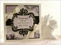 a Sympathy card using a sentiment from Repeat Impressions and Spellbinders dies