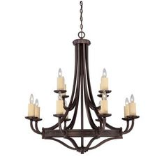 """View the Savoy House 1-2013-12 Elba 12 Light 37.5"""" Wide 2 Tier Chandelier at Build.com."""