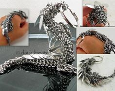 Chainmaille Pet Dragon Key Fob - Reserved for Roland L.   daisykreates - Accessories on ArtFire