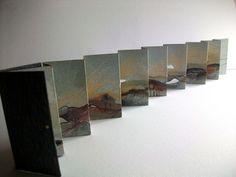 handpainted accordion book