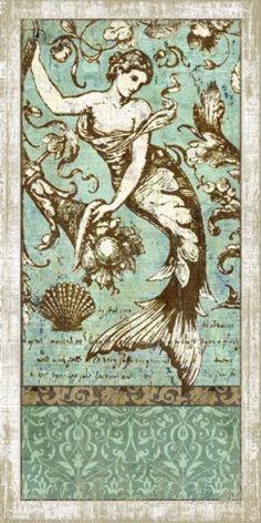 Drift. Mermaid #2 Wood Sign Placa de madeira