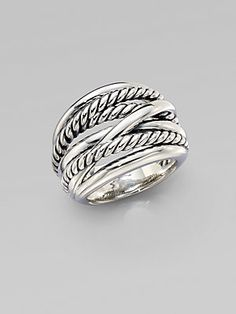 David Yurman Wide Cable Accented Ring