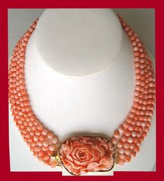 Necklace creation by Talya D from antique coral. Set in gold
