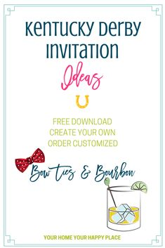 Kentucky Derby Invitations Ideas – Free, Design Your Own or Order
