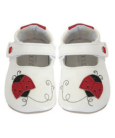 Another great find on #zulily! White Lady Bug Bootie by Jack & Lily #zulilyfinds