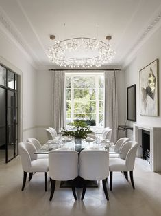 9 luxury elegant dining room decoration ideas for familly 2 « A Virtual Zone Dining Room Table Decor, Country Dining Rooms, Elegant Dining Room, Luxury Dining Room, Dining Room Design, Living Room Decor, Living Rooms, Dining Room Sets, Dining Room Inspiration