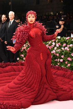 Cardi B in Thom Browne at the 2019 Met Gala—Camp: Notes on Fashion Famous Celebrities, Celebs, Met Gala Outfits, Cardi B Photos, Gucci Mane, Lil Pump, Thom Browne, Red Carpet Fashion, High Fashion