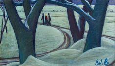 Werner Berg (German/Austrian Wegbiegung [Turn of the Road], Oil on canvas, 45 x 75 cm. Cool Artwork, Oil On Canvas, German, Landscape, Painting, Kunst, Deutsch, Scenery, German Language