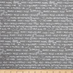 Riley Blake Novelty Equation Gray from @fabricdotcom  Designed by Becky Marie Designs for Riley Blake, this cotton print fabric is perfect for quilting and apparel. Colors include grey and white.