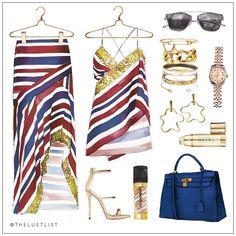 A WHOLE LOT OF SASS | Love this new collection by @sassandbide - Cami and Maxi.  Tap for details.  #TheLustList #SassandBide #Rolex #HollyRyan #Cartier #Hermes #NapoleonPerdis #Avon