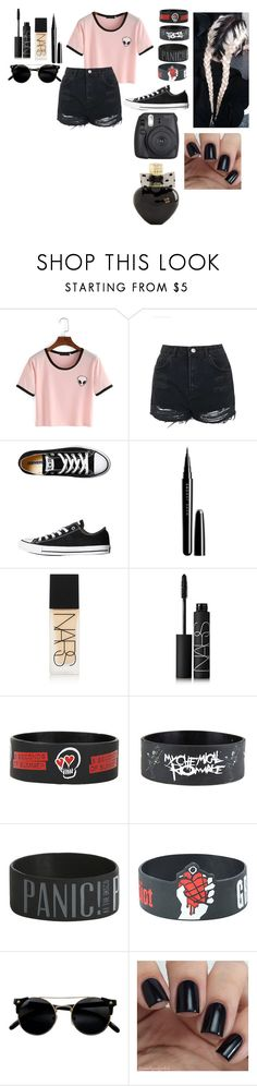 """Untitled #479"" by until-edm-comes ❤ liked on Polyvore featuring Topshop, Converse, Marc Jacobs, NARS Cosmetics and Aéropostale"