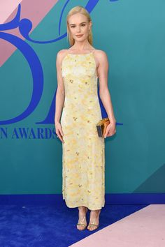 June 5 2017 - CFDA AWARDS - Kate Bosworth wore a Brock Collection dress, Irene Neuwirth earrings and Aquazzura sandals