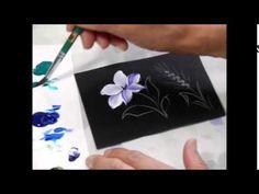 【トールペイント】描き方⑧クレマチスと麦How to draw Clematis snd Wheat - YouTube