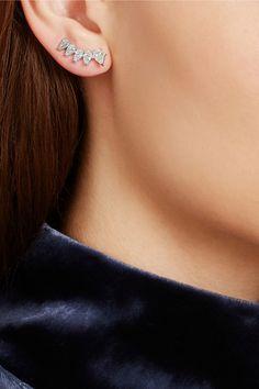 Anita Ko | Floating 18-karat white gold diamond earrings | NET-A-PORTER.COM