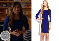 Glee: Season 5 Episode 9 Tina's Colorblock Dress
