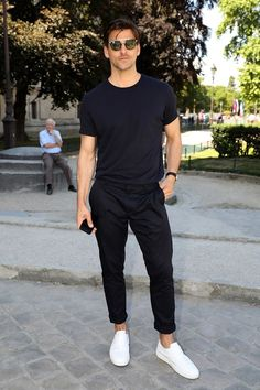 44 Most Popular Mens Summer Outfits Ideas for 2018 - Mode Mode Outfits, Casual Outfits, Fashion Outfits, Dress Casual, Fashion Weeks, Casual Wear, Mode Masculine, Masculine Style, Fashion Mode