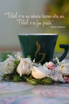 Happy Coffee, Good Morning Coffee, Flower Qoutes, Crochet Dolls Free Patterns, Good Morning Greetings, Christmas Paintings, Happy Thoughts, Beautiful Words, Cool Words