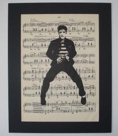 ELVIS PRESLEY Sheet Music Print music book page art- I have a box of old sheet music. Just WAITING for stuff like this! Ahh the possibilities!!