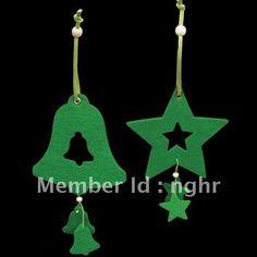 Most population ! Christmas tree ornament  ,Star decoration , felt craft