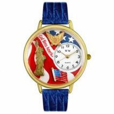 July 4th Patriotic Watch in Gold (Large)  Whimsical Watches has selling july 4th patriotic watch in gold (large) product with good quality at best price. Whimsical Watches july 4th patriotic watch in gold (large) has one of the most popular and high rank product under shops category. Many customers purchased Whimsical Watches july 4th patriotic watch in gold (large) product and we received positive feedback from most of our customers.