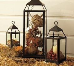 My outdoor lanterns can also be used for fall decor.