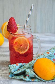 strawberry Meyer lemonade spritzer