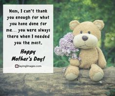 Happy Mother's Day Quotes, Messages, Poems & Cards #sayingimages #mothersdayquotes #happymothersday