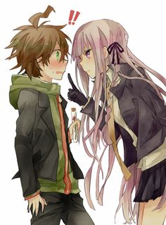 Naegi's hair is adorable in this picture