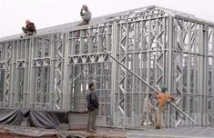 Steel Frame, Building A House, Outdoor Structures, Decor, Brick, Cave, Walls, Houses, Decoration